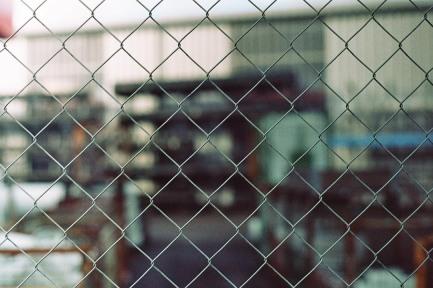 Zaun beim Hafen